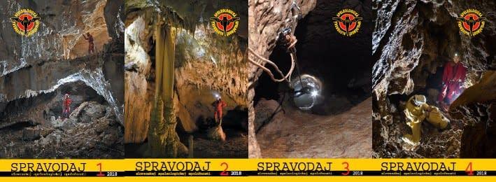 spravodaje, Pribudli spravodaje 2018 v pdf, Slovenská speleologická spoločnosť