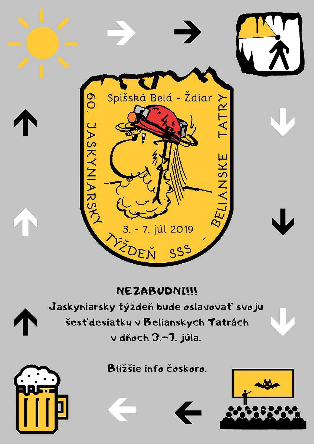 , Pozvánka na 60. JT – Spišská Belá/Ždiar, Slovenská speleologická spoločnosť