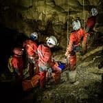 Spoločné cvičenie jaskynnej záchrannej činnosti
