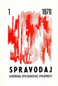 , Pribudli spravodaje 1978, Slovenská speleologická spoločnosť