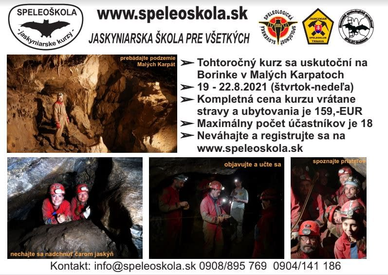 , Speleoškola 2021, Slovenská speleologická spoločnosť