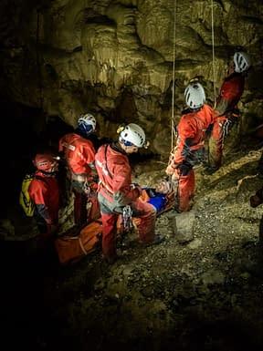 , Spoločné cvičenie jaskynnej záchrannej činnosti, Slovenská speleologická spoločnosť