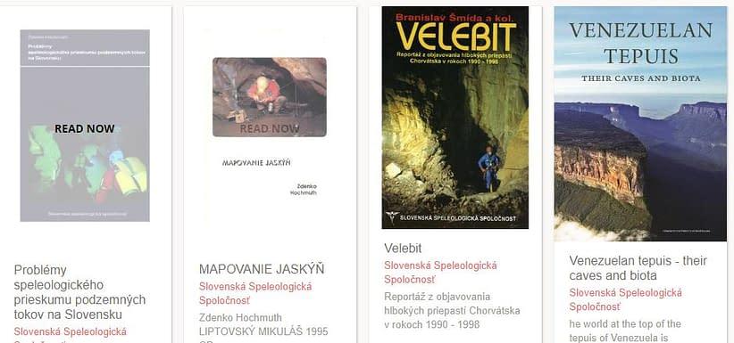 Literatúra jaskyne a priepasti