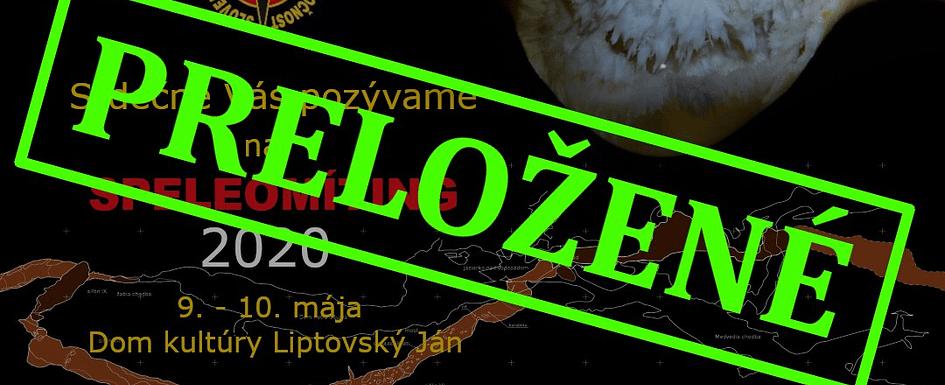 , Speleomíting 2020 – preložený, Slovenská speleologická spoločnosť